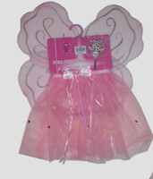 COSTUME FAIRY SKIRT, WINGS AND WAND SET