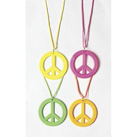 PEACESIGN NECKLACE - NEON PKT 1