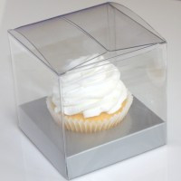 CLEAR SINGLE SERVE CUPCAKE BOX