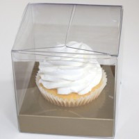 CLEAR SINGLE SERVE CUPCAKE BOX >