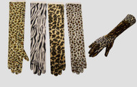 ANIMAL PRINT GLOVES 43 CM