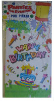 PULL PINATA 4 Birthday Design