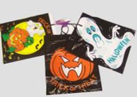 HALLOWEEN PLASTIC TOTE BAGS X 3