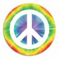 Cutout Peace Sign (33cm) Printed 2 Sides -