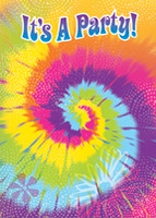 Invitations Tye-Dye Swirl - Pack of 8