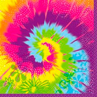 Luncheon Napkins Tye-Dye Swirl (33cm x 33cm) - Pack of 16