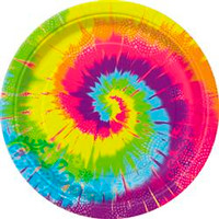 Plates Tye-Dye (18cm) - Pack of 8