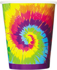 Cups Tye-Dye Swirl 270ml - Pack of 8