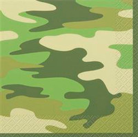 Napkins Camo Luncheon napkins with camouflage print - Pack of 16