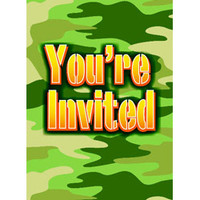 Invitations Camo - Pack of 8