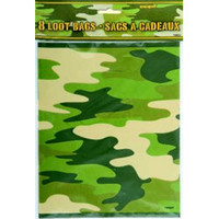 Loot Bags Camo - Pack of 8