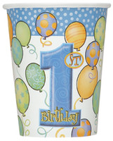1st BALLOONS BLUE 8 x 9oz CUPS