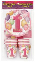 1st BALLOONS PINK PARTY PK FOR 8