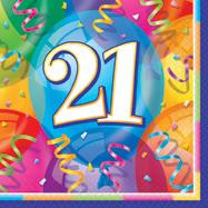 HAPPY BIRTHDAY JUBILEE 16 x 21st LUNCHEON NAPKINKIN