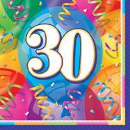 HAPPY BIRTHDAY JUBILEE 16 x 30th LUNCHEON NAPKINKIN