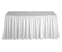 TABLE SKIRT 426x73cm WHITE P1