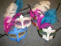 MASK  FEATHER MIXED COLOURS