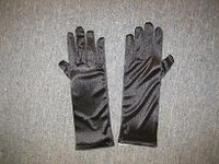 DRESS GLOVE BLACK SILK 270 MM