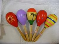 MARACAS LARGE WOODEN  PAIR
