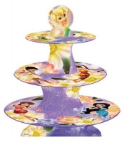 DISNEY FAIRIES CUPCAKE STAND - 3 TIER