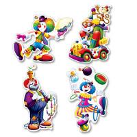"""Clown Cutouts 14"""""""