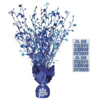 Blue Glitz Birthday Balloon Weight / Centrepiece