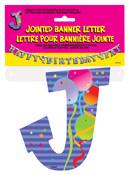 JOINTED BANNER LETTER J