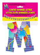 JOINTED BANNER LETTER M