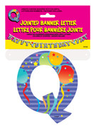 JOINTED BANNER LETTER Q
