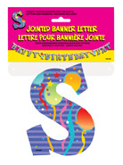 JOINTED BANNER LETTER S