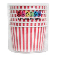 6 PK GELATO CUPS - RED STRIPE