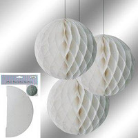 Decorative Lantern 29 cm White