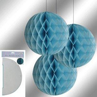 Decorative Lantern 29 cm light Blue