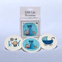 Its A Boy Edible  Cake Disc 12 pcs