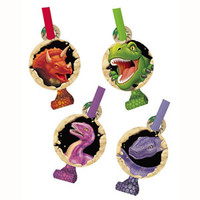Dino Blast Blowouts with Medallion - Pack of 8