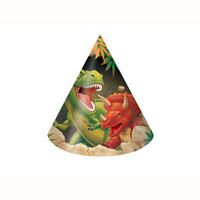 Dino Blast Party Hats Child Size - Pack of 8