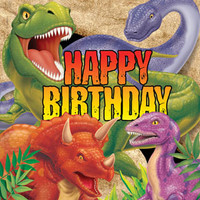 Dino Blast Lunch Napkins, Happy Birthday