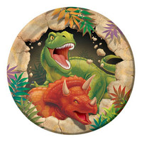 Dino Blast Luncheon Plates (18cm) Paper - Pack of 8