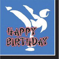 Black Belt Birthday Lunch Napkins (33cm x 33cm) 3 Ply - Pack of 16