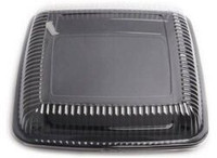 Platter heavy Duty 12 Inch Square Black or White with Lid