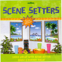 Scene Setter Cutout Window View Luau / Tropical (84cm x 53cm) - Pack of 3