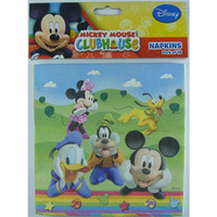 Mickey Mouse Clubhouse Napkins, Luncheon Size (33cm x 33cm) - Pack of 8