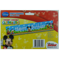 """Mickey Mouse Clubhouse Giant Banner, """"Happy Birthday"""" (150cm Long x 30cm High) -"""