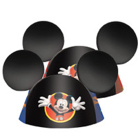 Mickey Mouse conehat ears. One sits fits most child's heads.
