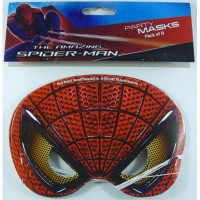Masks Spiderman 4 Cardboard - Pack of 8