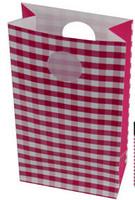 Party Bag Pink Check 6pk