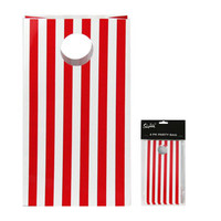 Red Stripe Party Bag - 6pk