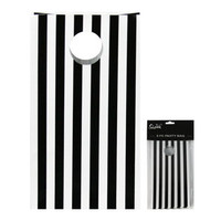Black Stripe Party Bag - 6pk
