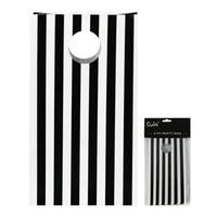 Party Bag Black Stripe Pk 6