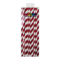 Paper Straws Red Pack 20